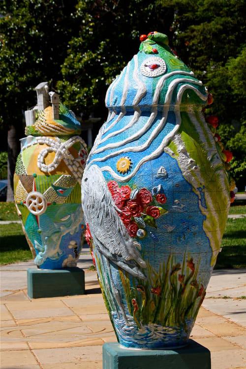Public Sculptures by Stephanie Taylor seen at John C. Fremont Park, Sacramento - Confluence