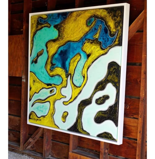 Paintings by Nickhartist seen at Private Residence, Sacramento - Pools of Blue