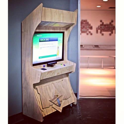 Furniture by Monkwood at The Vault, Orange - Custom Wood Arcade