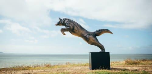 Public Sculptures by Andy Baerselman seen at Beijing, Beijing - Wolf