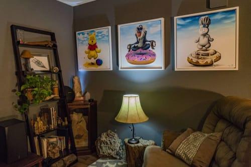 Paintings by Derek Nemunaitis seen at Private Residence, Dallas - Rise Above Temptation