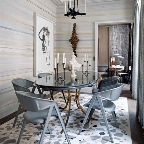 Wall Treatments by Callidus Guild seen at Paris Apartment, Paris - Bespoke Wallcovering