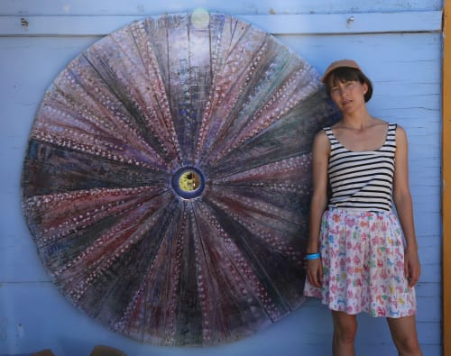 Murals by Charlie Callahan seen at Ricochet Vintage Wears, Joshua Tree - Dessert Urchin