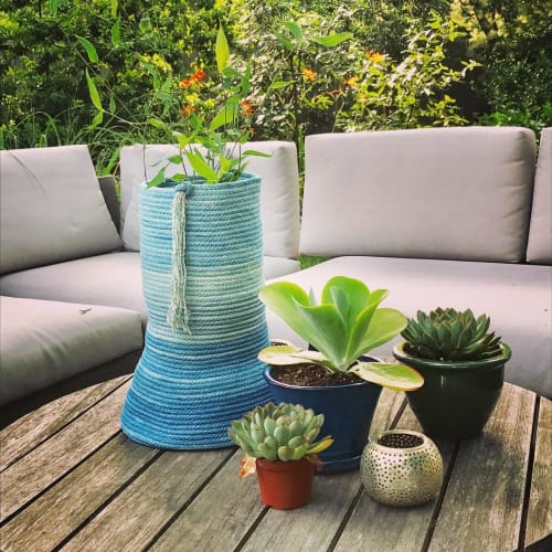 Vases & Vessels by Hey Blue Handmade seen at Private Residence, Salem - Column Vessel
