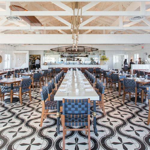 "Tiles by clé tile at Malibu Farm Pier Cafe, Malibu - Malibu 8"" x 8"" Encaustic Cement Tile"