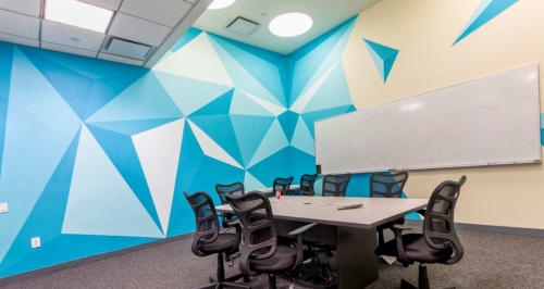 Murals by JM Rizzi seen at Grand Central Tech, New York - Abstract Forest
