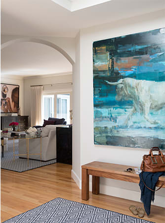 Interior Design by Kriste Michelini Interiors seen at Alamo Residence, Alamo - Interior Design