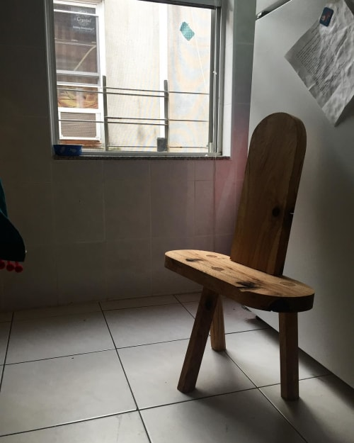 Chairs by Lucca Zeray seen at Private Residence, Brooklyn - Birthing Stool