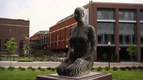 Sculptures by Julian Voss-Andreae seen at University of Minnesota, Minneapolis - Spannungsfeld
