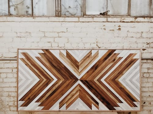 Wall Hangings by Aleksandra Zee seen at The Joshua Tree Casita, Joshua Tree - Geometric Wood Artwork
