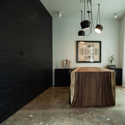 Tables by Labrica seen at Private Residence, Miami - Wooden table
