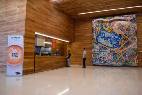 Sculptures by Frank Stella seen at LinkedIn - San Francisco, San Francisco - Shards III