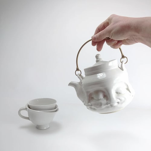 Tableware by Hollow Work by Kate Hardy at Private Residence, Washington - Face Tea Kettle