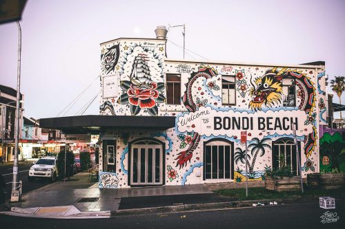 Murals by Steen Jones seen at Bondi Beach, Bondi Beach - Welcome to Bondi