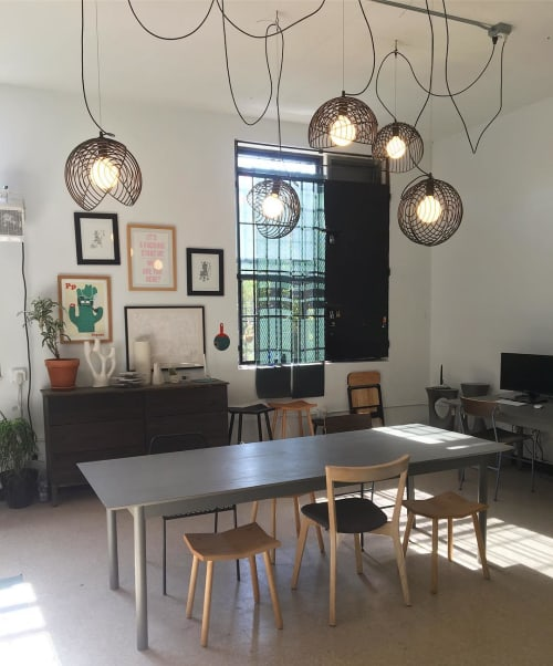 Pendants by Luis A. Arrivillaga seen at Souda Brooklyn Office, Brooklyn - Dana Pendant Lights