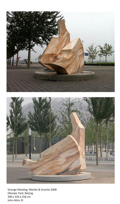 Public Sculptures by John Atkin seen at Olympic Park, Beijing, China, Beijing - Strange Meeting