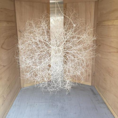 Pendants by Owen Mortensen seen at Private Residence, Big Sky, Big Sky - Tumbleweed Pendant
