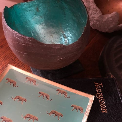 Tableware by Miles Moore seen at Private Residence - Microcosm Turquoise Sculpture