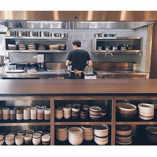 Ceramic Plates by Irving Place Studio seen at Otium, Los Angeles - Ceramics Dinnerware