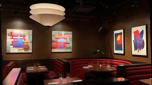 Paintings by Craig Stockwell seen at Hudson Yards Grill, New York - Paintings