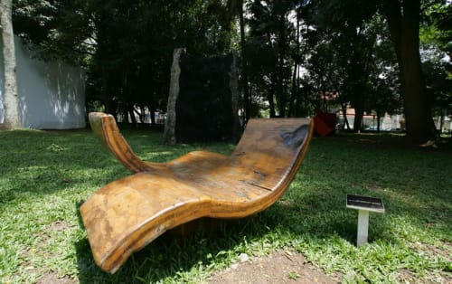 Benches & Ottomans by Atelier Hugo França at Museum of the Brazilian House, Jardim Paulistano - The Tapirapa Flirt