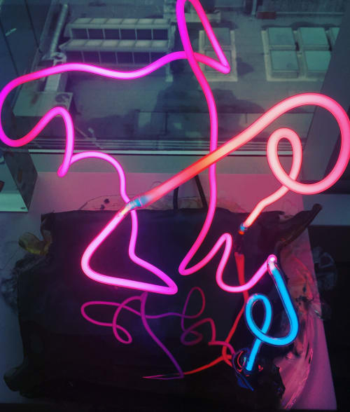 Lighting by Marco Guglielmino seen at Private Residence, New York - Neon Light Sculpture