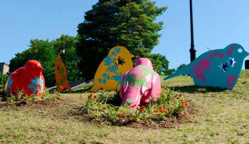 Public Sculptures by Patricia Cazorla seen at Joyce Kilmer Park, Bronx, Bronx - Flying High for Equality