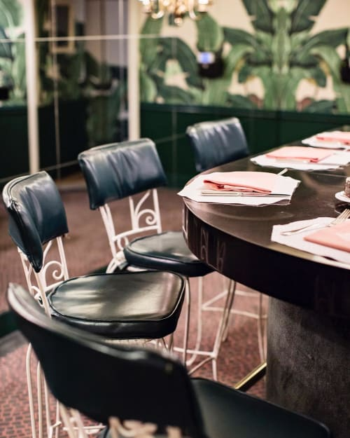 Chairs by Tihany Design seen at The Beverly Hills Hotel, Beverly Hills - Restored Bar Stools