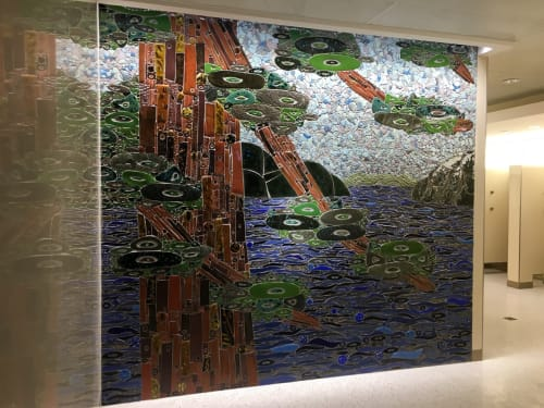 Public Mosaics by Sheryl Tuorila seen at Minneapolis–Saint Paul International Airport (MSP) - MSP Airport View from a Lake