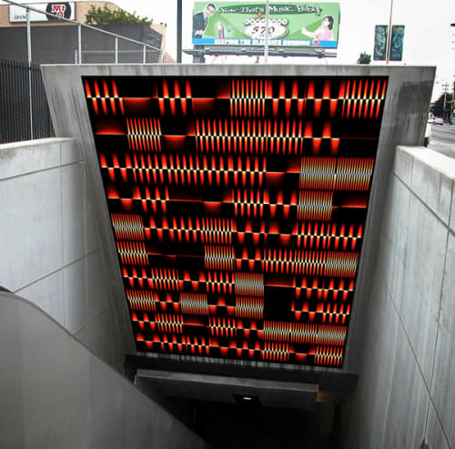 Art & Wall Decor by George Legrady seen at Vermont / Santa Monica Station, Los Angeles - Kinetic Flow