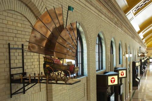Sculptures by Kyle Fokken - Artist LLC seen at Union Depot, St. Paul, Saint Paul - The Occidental Express