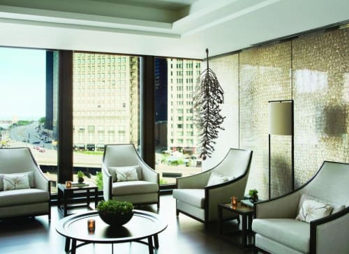 Sculptures by Carolyn Ottmers at The Langham Chicago, Chicago - Splice sculptures