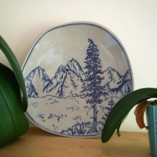 Ceramic Plates by Ayla Mullen seen at Private Residence - Ceramic Landscape Plate