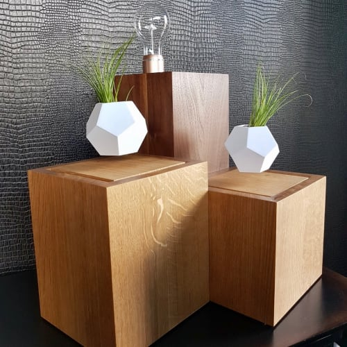 Furniture by Cask Woodworking seen at Private Residence - Display Pedestals