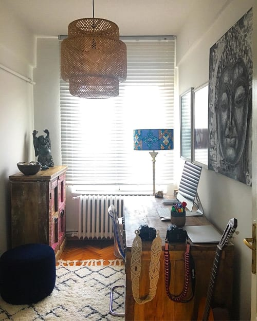 Lamps by 3RD Culture seen at Private Residence, Istanbul - Chichen-Itza Floor Lamp