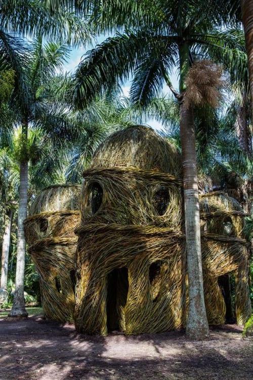 Public Sculptures by Patrick Dougherty seen at McKee Botanical Garden, Vero Beach - The Royal