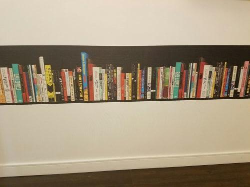 Wallpaper by Grand Image Art seen at Hotel Zetta, San Francisco - Tromp L'oeil Bookshelf