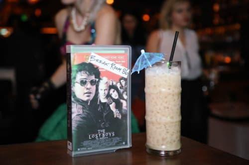 Tableware by Houston Hospitality seen at Break Room 86, Los Angeles - Custom Drink Menu Inside Old VHS Boxes