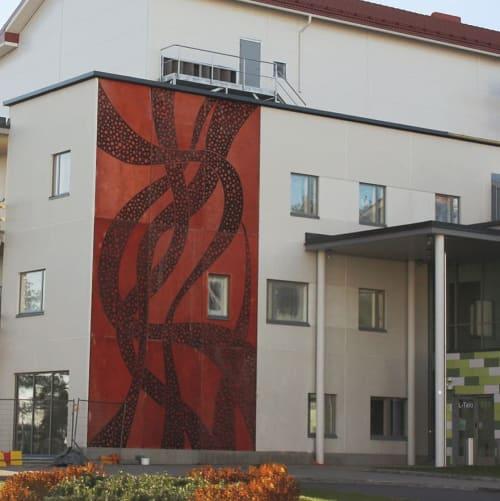 "Murals by Maria Mughal seen at North Karelia Central Hospital, Siun sote, Joensuu - ""Cradle of Life"""