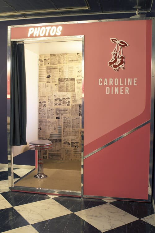 Furniture by Glass Coat Photo Booth at Caroline Diner, Shibuya-ku - Caroline Diner Photo Booth
