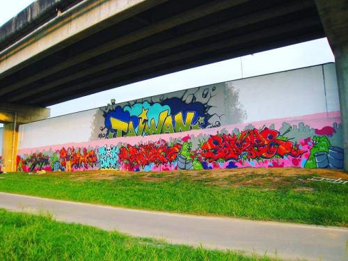 Street Murals by Christian Toth Art seen at Taipei, Taipei - Mural in Taiwan