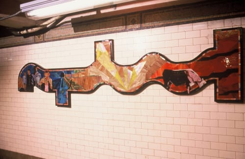 Street Murals by Norman E. Moore seen at Prince Street, New York - Mosaics