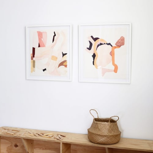 Paintings by Jen Garrido seen at Private Residence, San Francisco - LOOM A & LOOM B Limited Edition Frame Prints