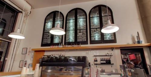 Art & Wall Decor by Lauren Geremia seen at Coffee Bar, San Francisco - Vintage Window Light Boxes