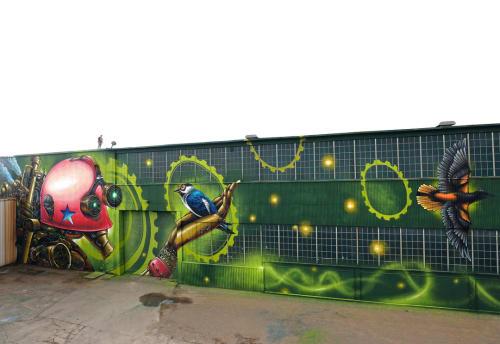 Street Murals by Bruno Smoky at Kitchener, Kitchener - Kitchener Mural