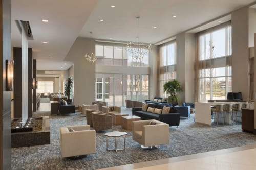 Embassy Suites by Hilton The Woodlands at Hughes Landing, Hotels, Interior Design