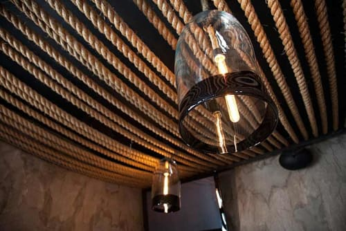 Chandeliers by Lauren Geremia seen at Churchill, San Francisco - Custom-Blown Chandeliers