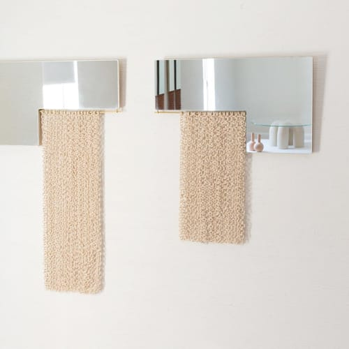 Wall Hangings by Eny Lee Parker seen at Laney Contemporary Fine Art, Savannah - Ceramic chain mirrors