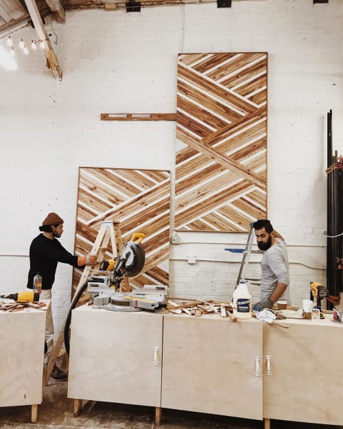 Wall Hangings by Aleksandra Zee at Oakland, Oakland - Geometric Wood Artwork