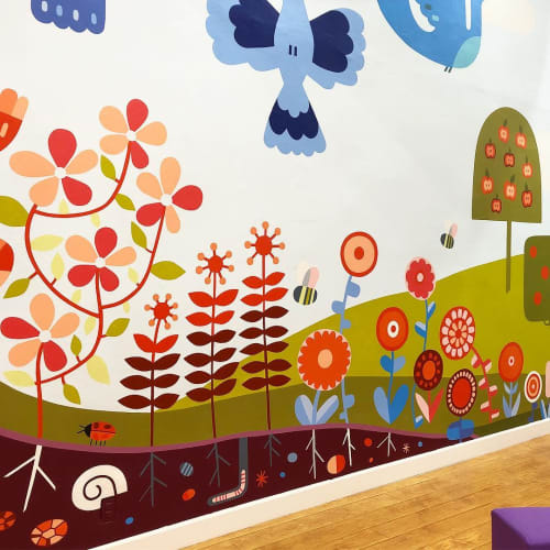 Murals by Caitlin Kuhwald Illustration seen at Wiggle & Work, Los Angeles - Mural